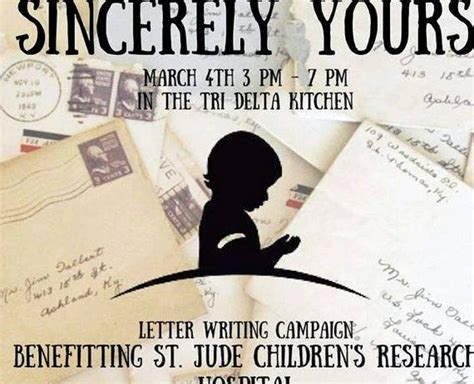 sincerely  letter writing campaign
