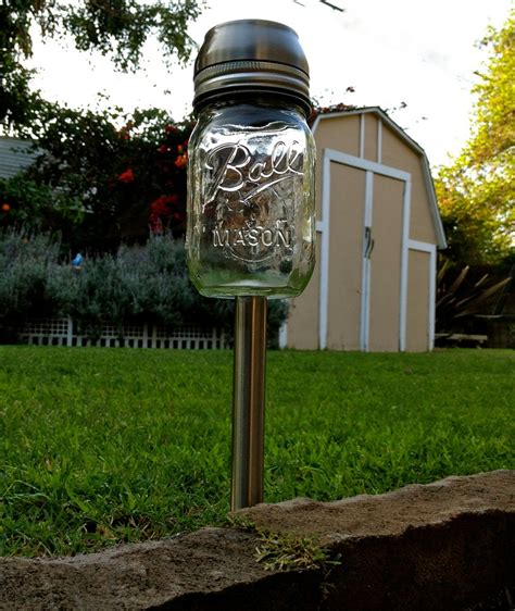 4 solar light jar garden stake lights for the home