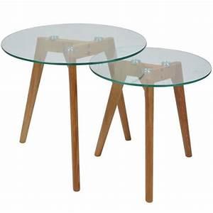 Table Basse Gigogne Verre : 2 tables basses en verre gigognes rondes fiord achat ~ Teatrodelosmanantiales.com Idées de Décoration