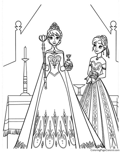frozen  coloring page coloring page central