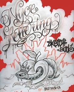 Nyce Lettering Sketch Book Tattoo Flash Book 198