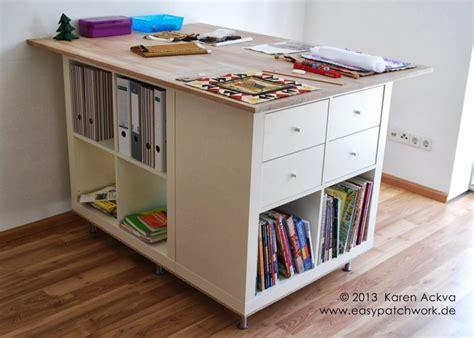 bureau sur mesure ikea une table de couture sur mesure avec kallax bidouilles ikea