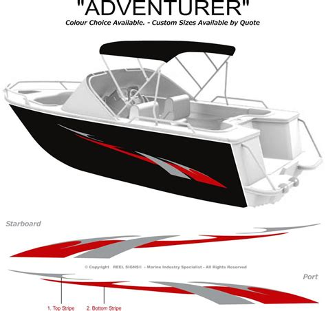 boat lettering decals boat graphics decal sticker kit quot adventurer 1800 quot marine