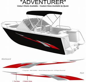 boat graphics decal sticker kit quotadventurer 1800quot marine With marine decals and lettering