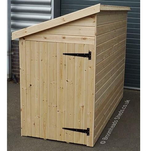 height  mm tanalised timber pent bike shed single