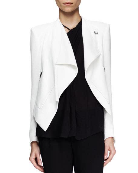 Helmut Lang Draped Jacket - helmut lang cropped drape jacket