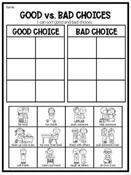 good  bad choice sort distance learning  teach fun