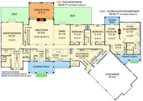 plan jl rustic ranch   law suite craftsman bonus rooms   law suite