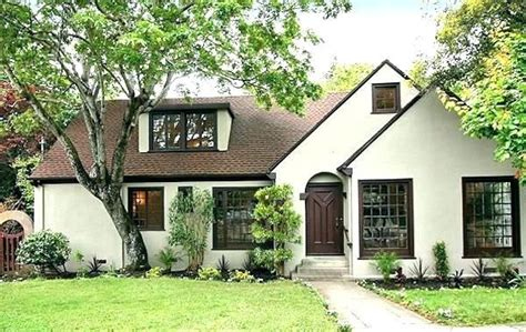 image result  white house brown trim white exterior