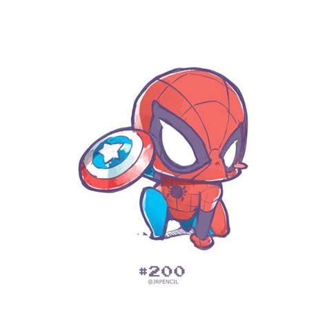 drawn superman cute spiderman cartoon pencil