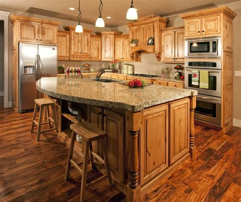 what countertop would look with hickory cabinets search kitchen