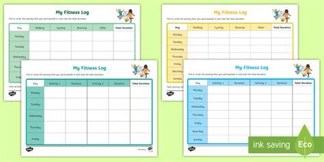 cfe  level  fitness log worksheet worksheets