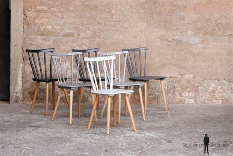 lot de 6 chaises en bois lot de 6 chaises vintage en bois du blanc au noir gentlemen designers