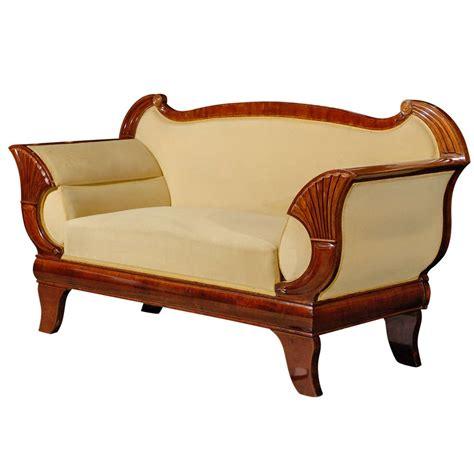 biedermeier settee mahogany biedermeier sofa at 1stdibs culture
