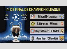 Resultado de sorteo de la Champions
