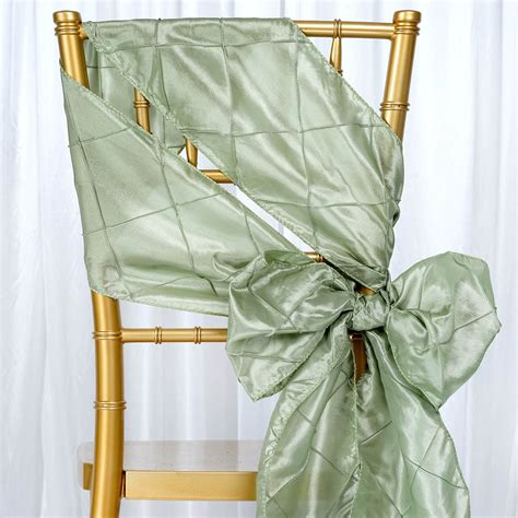 10 pintuck chair sashes bows ties for wedding