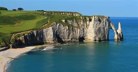 sea cliffs  etretat france unique places