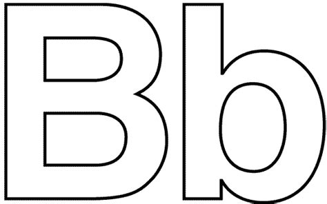 Letter B Coloring Pages | Bebo Pandco