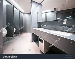 Modern Public Restroom Men Stock Photo 121121728 ...