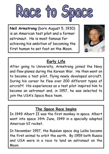 neil armstrong reading comprehension  questions
