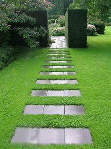 allees de jardin creatives pour votre exterieur With dalle pour allee de jardin
