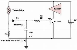 simple fire alarm With fire alarm circuit