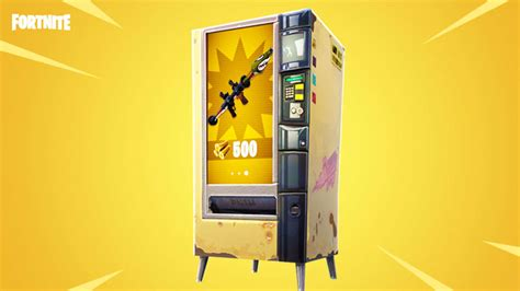 fortnites latest update adds weapon vending machines