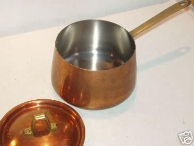 vintage  paul revere copper cookware  pot  lid