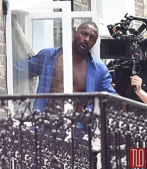 Idris Elba on the Set of