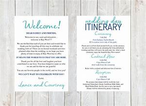Welcome letter wedding welcome letter wedding itinerary for Destination wedding welcome letter template