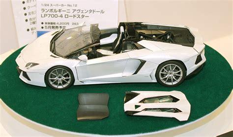 aoshima 1 24 lamborghini aventador lp700 4 roadster shizuoka hobby show 2014 aoshima hobbylink japan