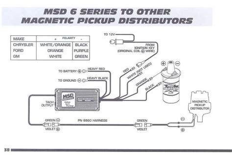 6a Msd Box Wiring Diagram by Connecting Msd 6al To One Wire 87 930 Distributor