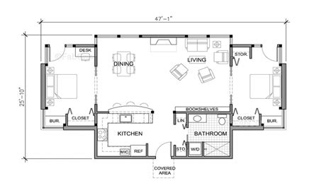 small one story house floor plans really small one story house weekend cottage plans - Small One Story House Plans