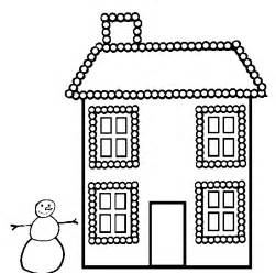 House with Christmas Lights Coloring Pages