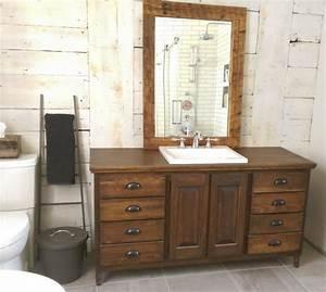 vanite de salle de bain sur mesure meuble salle de bain With meuble salle de bain bois rustique