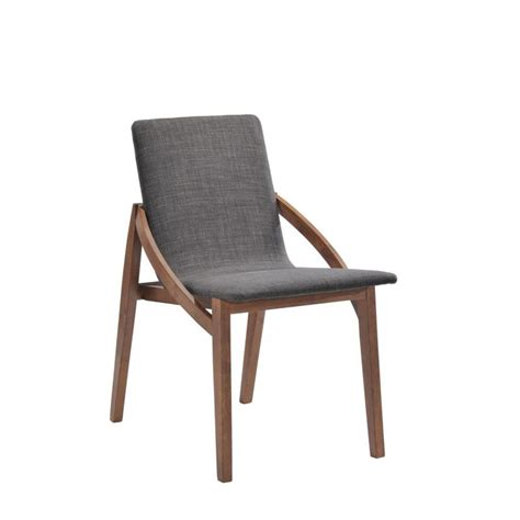chaises tissus lot 2 chaises design tissu et bois