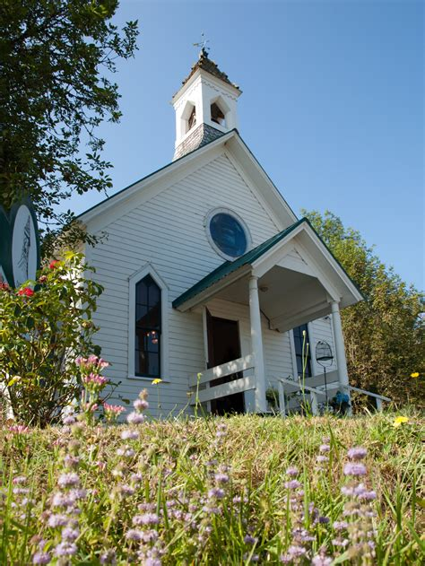 A Country Chapel Located Outside Creswell Oregon There