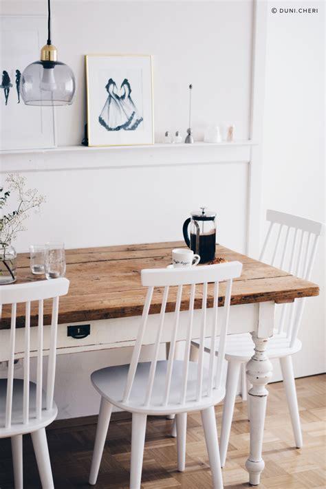 Weiße Stühle Esszimmer by Esszimmer Wei 223 E St 252 Hle Brauner Tisch Esszimmer