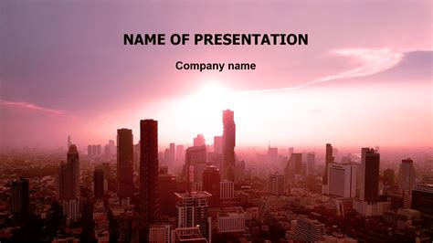 red city powerpoint template