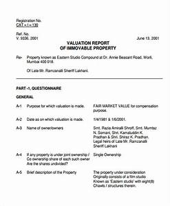 Valuation report templates 9 free word pdf format for Property valuation report template
