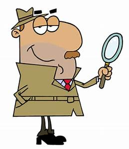 Detective Magnifying Glass Cartoon