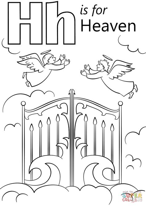 letter    heaven coloring page  printable