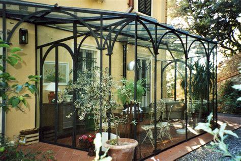 giardino inverno veranda veranda in ferro battuto e vetro con realizzazione