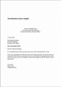 Sample Termination Letters Termination Letter Sample Letter Sample Lettering