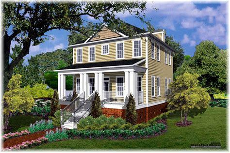 southern colonial house plan  bedrm  bath  sq ft