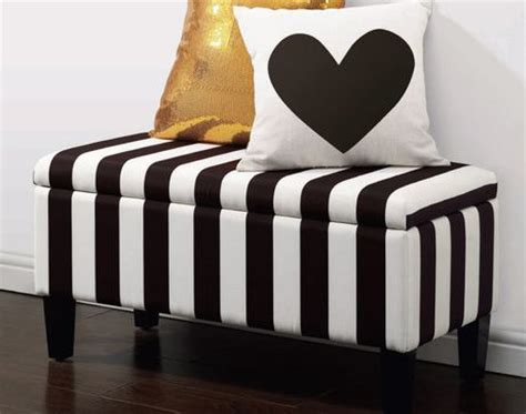Black White Bench by Hometrends Black And White Stripe Storage Bench Walmart Ca