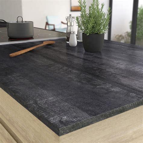 plan de travail cuisine stratifié leroy merlin plan de travail stratifié vintage wood noir mat l 315 x p