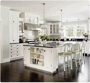 Little inspirations glamorous white kitchens for Kitchen colors with white cabinets with movie theater wall art