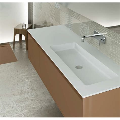 evier vasque cuisine plan vasque blanc mat soho solid surface à poser vasque