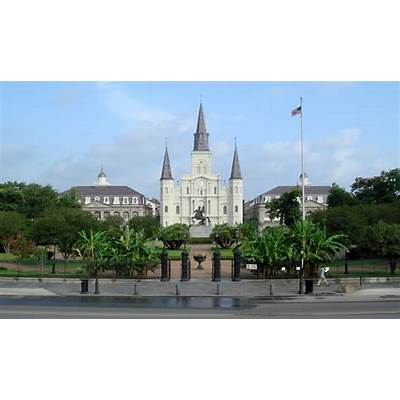 Check out the historical Jackson Square in New Orleans